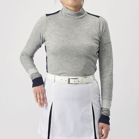 グラデーションL/S モックシャツ
