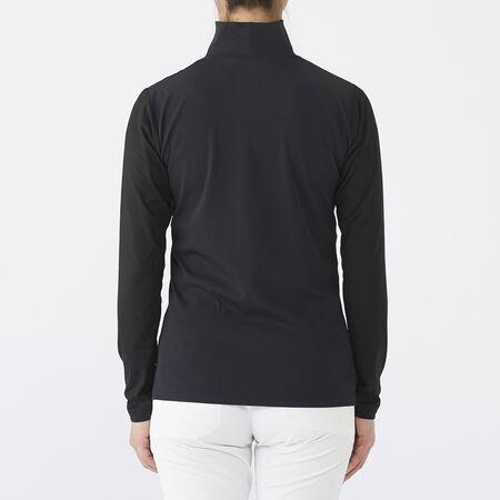 リブネック L/S モックシャツ