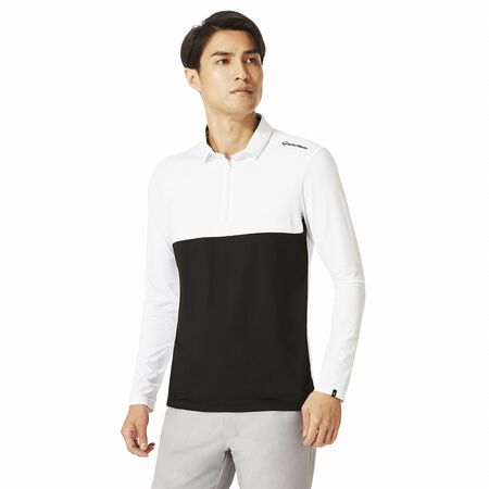 Color block L / S polo