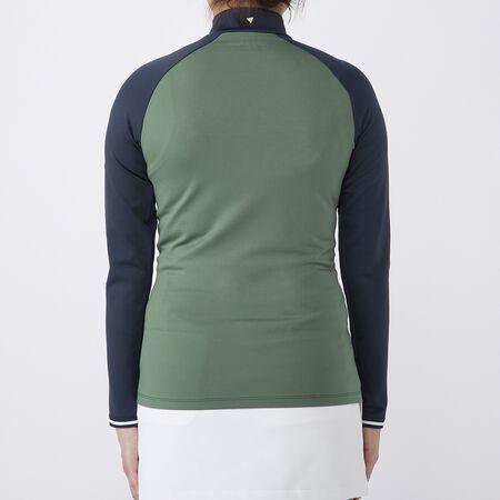 ジャージー L/S モックシャツ
