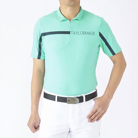 ハーフジップ S/S モックシャツ