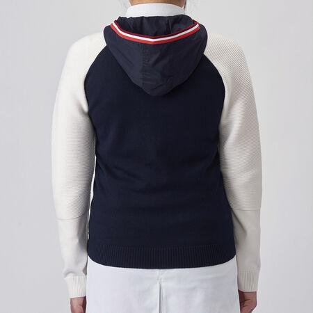 フーディーニットジャケット