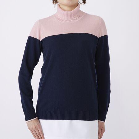 カシミヤブレンド タートルネックセーター