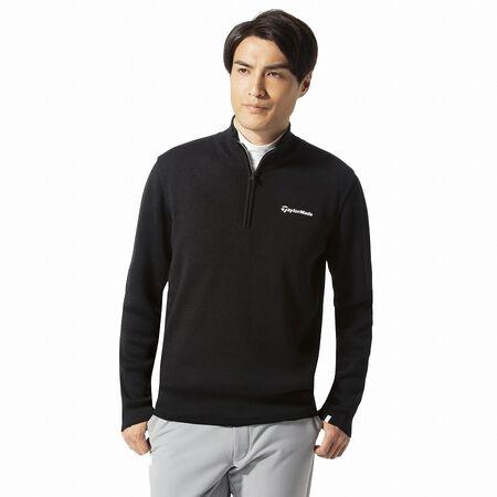 ハーフジップベーシックセーター