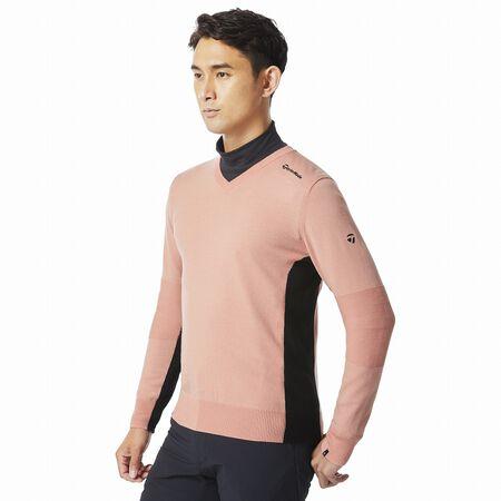 ウールブレンドVネックセーター