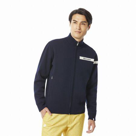 ウールブレンドセーターラインドジャケット