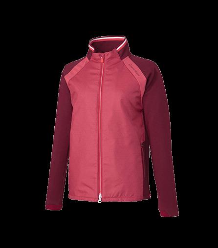 [KX729] U23774 ファブリックミックス ジャージージャケット 3色
